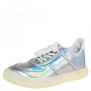 Giuseppe Zanotti Multicolor Iridescent Leather Blabber Jellyfish Low Top Sneakers Size 39