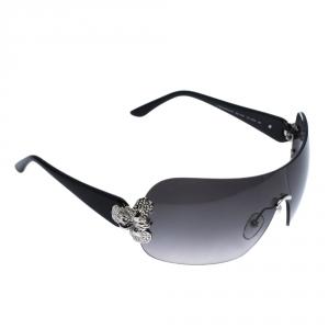 Givenchy Black Gradient SGV 436S Shield Sunglasses