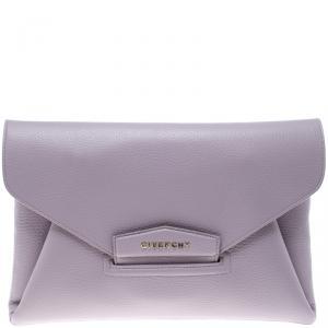 Givenchy Lilac Leather Medium Envelope Antigona Clutch