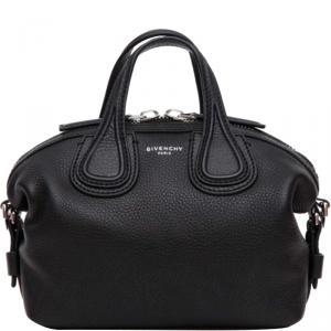 Givenchy Black Leather Micro Nightingale Crossbody Bag