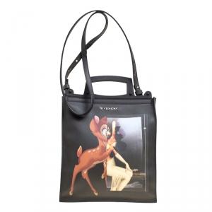 Givenchy Black Leather Rave Bambi Crossbody Bag