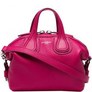 Givenchy Fuchsia Leather New Micro Nightingale Top Handle Bag