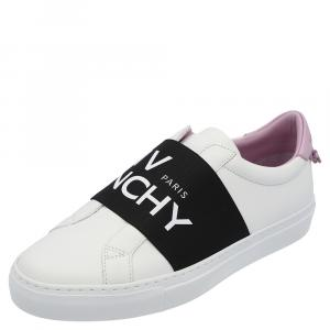 Givenchy White/Black/Purple Urban Street Logo Sneakers Size EU 36