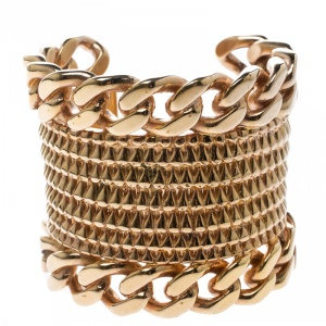 Givenchy Armadillo Rose Gold Tone Open Cuff Bracelet