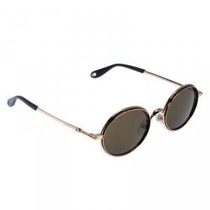Givenchy Gold Tone/Green GV 7052/S Oval Sunglasses