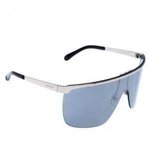 Givenchy Silver/Black Silver Mirrored GV7117/S Shield Sunglasses