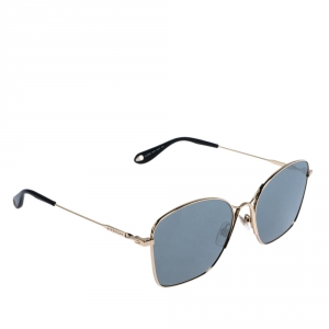 Givenchy Gold/Grey Silver Mirrored GV7092/S J5GT4 Square Sunglasses