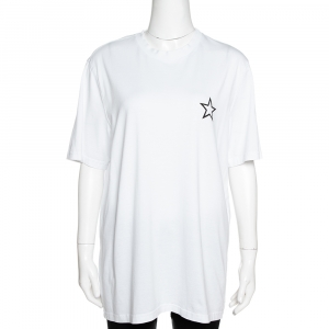 Givenchy White Cotton Star Print Crew Neck T Shirt M - used
