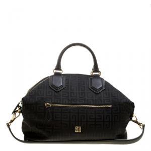 Givenchy Black Nylon Signature Top Handle Bag