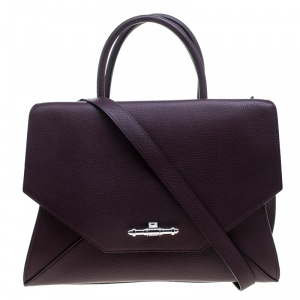 Givenchy Burgundy Leather Medium Obsedia Tote