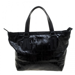 Givenchy Black Monogram Coated Canvas and Leather Tote