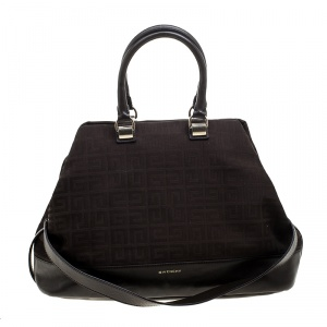 Givenchy Brown Monogram Canvas and Leather Convertible Tote