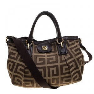 Givenchy Brown Monogram Canvas and Leather Satchel