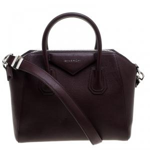 Givenchy Burgundy Leather Small Antigona Satchel