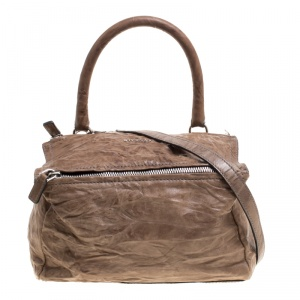 Givenchy Brown Leather Medium Pandora Crossbody Bag