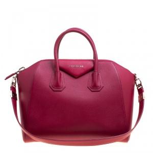 Givenchy Magenta Leather Medium Antigona Satchel