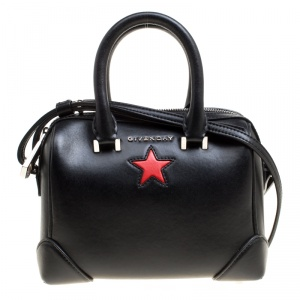 Givenchy Black Leather Lucrezia Star Bowler Bag