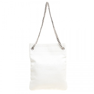 Givenchy White Leather Chain Tote