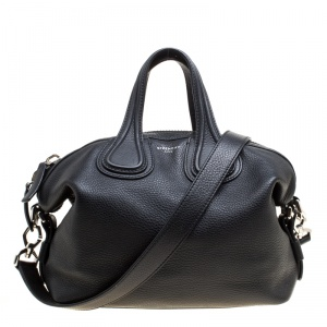 Givenchy Black Leather Small Nightingale Top Handle Bag