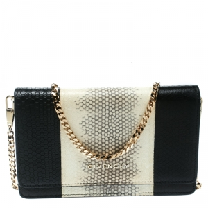 Givenchy Monochrome Python Embossed Leather Clutch