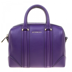 Givenchy Purple Leather Mini Lucrezia Duffel Bag