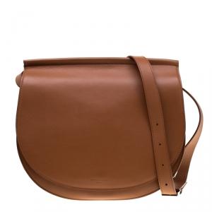 Givenchy Brown Leather Mini Infinity Saddle Bag