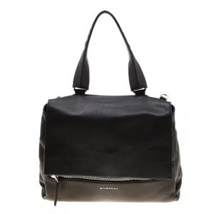 Givenchy Black Leather Pandora Flap Top Handle Bag
