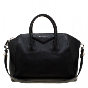 Givenchy Black Leather Antigona Top Handle Bag