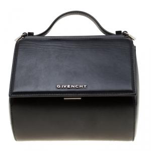 Givenchy Black Leather Mini Pandora Box Crossbody Bag