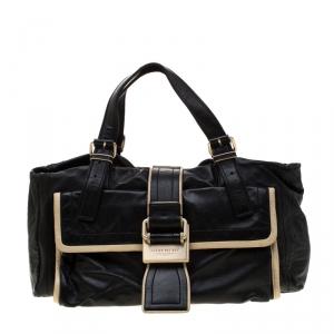 Givenchy Black/Cream Leather Satchel