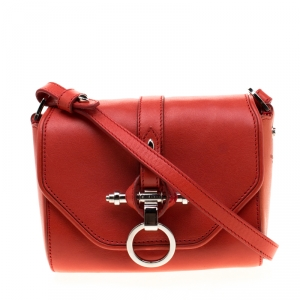 Givenchy Red Leather Small Obsedia Crossbody Bag