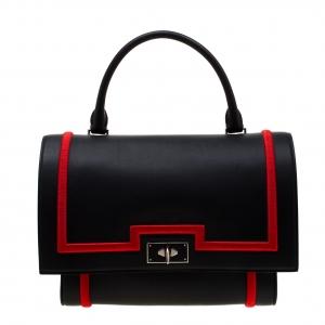 Givenchy Black/Red Leather Shark Tooth Shoulder Bag