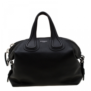 Givenchy Black Leather Small Nightingale Satchel