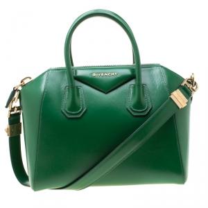 Givenchy Green Leather Small Antigona Satchel