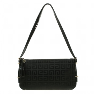Givenchy Black Signature Canvas Shoulder Bag