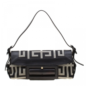 Givenchy Black Canvas and Leather Shoulder Bag