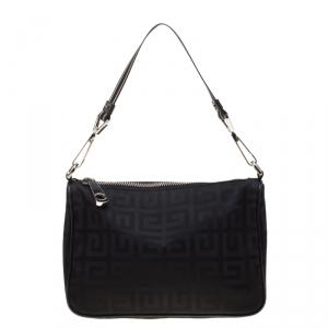Givenchy Black Monogram Nylon Shoulder Bag