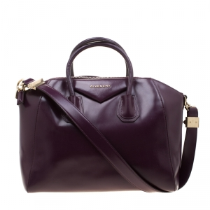 Givenchy Purple Leather Antigona Satchel
