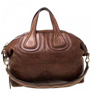 Givenchy Brown Leather Nightingale Satchel