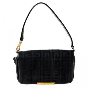 Givenchy Monogram Canvas Flap Clutch Bag