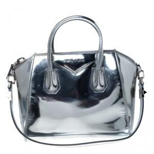 Givenchy Silver Leather Small Antigona Satchel