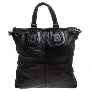 Givenchy Black Leather Nightingale Shoulder Bag