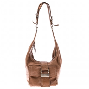 Givenchy Tan Leather Buckle Hobo