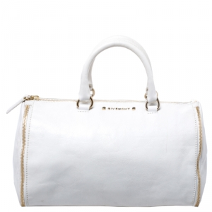 Givenchy White Leather Duffel Bag