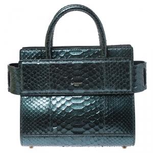 Givenchy Green Metallic Python Mini Horizon Crossbody Bag