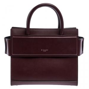 Givenchy Maroon Leather Mini Horizon Crossbody Bag