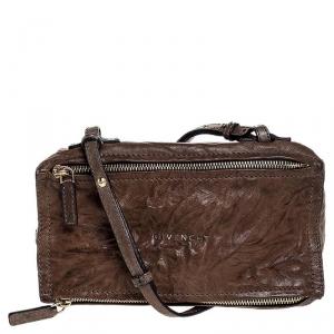 Givenchy Brown Leather Mini Pandora Sugar Crossbody Bag
