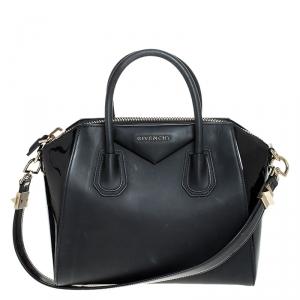 Givenchy Black Matte/Patent Leather Small Antigona Satchel