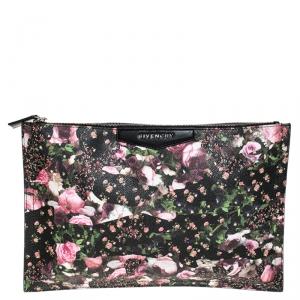Givenchy Multicolor Floral Print Coated Canvas Antigona Clutch