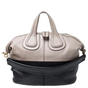 Givenchy Beige/Black Leather Nightingale Satchel
